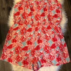 Forever 21 Shorts - NWT Forever 21 Plus Size 3X Palm Leaf Print Romper